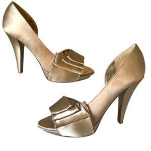 Steve Madden Gold Stiletto High Heels Shoes Size 8